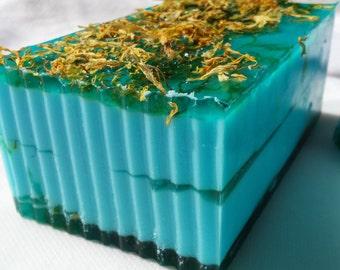 Beautiful Day Soap, glycerin soap, artisan soap, shea butter soap, flower soap, fruity soap, spring soap