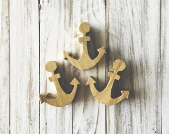 Wood Anchor magnets - hope is an anchor