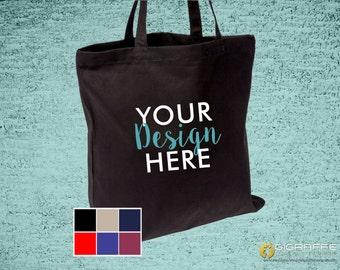 Custom 8 oz. Canvas Tote - Canvas tote bag - Custom wedding totes - Custom design -  Promotional Gift Bags - Custom canvas tote - Logo tote