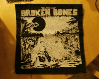 Broken Bones back patch 12 in by 11.5 in