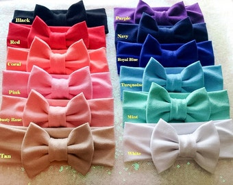 Solid Fabric Collection with Matching Fabric Bow