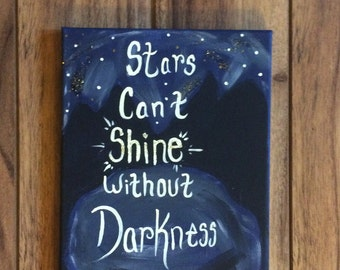 Star Quote Canvas 8x10