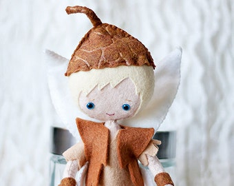 """Terence Felt Doll - MADE TO ORDER 9-1/4"""" Handmade Doll - Fairy Tale Doll - Fairy Doll - Terence Doll - Disney Fairy - Peter Pan"""