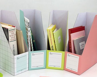 1 x Paper file boxes / magazine file holders / Color paper boxes / document organizer / paper file organizer / Office Paper Organizer /