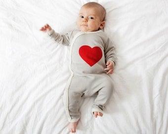 New baby gift heart baby romper perfect as a baby shower gift christening gift organic cotton newborn gift set baby onesie