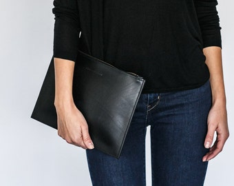 Nelle - Full Grain Real Leather Clutch