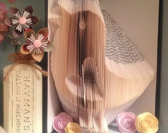 Spring 'Bertie Bird' Folded Book Art **Pattern** and instructions  PDF Free Instructions