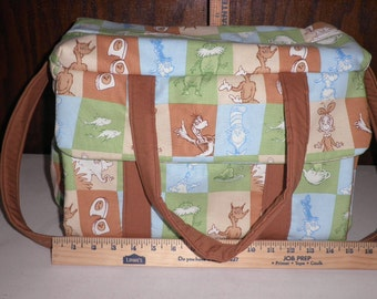 Diaper Bag with Changing Pad made with Dr. Suess Fabric