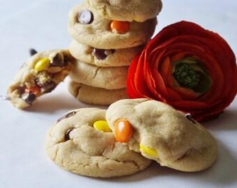 Peanut Butter Cookies, Chocolate Peanut Butter Cookies, M&M Cookies, Reeses Pieces Cookies