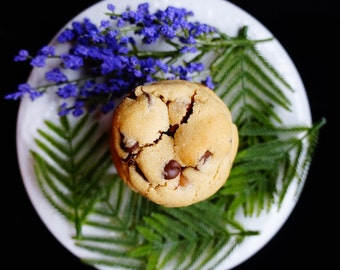 Peanut Buttery Caramel Chocolate Cookies