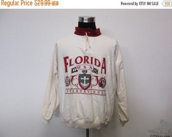 ON SALE Vtg Cotton Club FIU Florida International Golden Panthers Sweatshirt sz M Medium Vintage