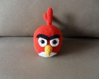 Angry Bird, Red Angry Bird, Crochet Angry Bird, Amigurumi Angry Bird, Crochet Toy, Crochet Angry Bird Toy