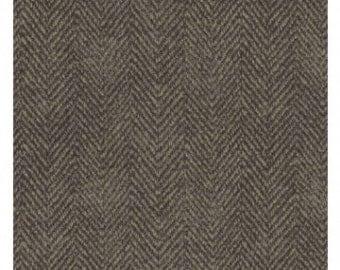 Black Brown Herringbones Woolies Flannel Designer Bonnie Sullivan For Maywood Studio