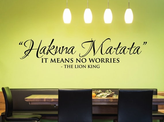Hakuna Matata - No Worries Decal by FixateDesigns