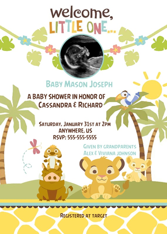 simba lion king baby shower invitations baby simba baby shower