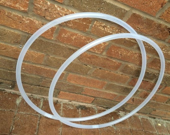 Natural 5/8 Polypro Mini Double Poi Hula Hoops (2 hoops)