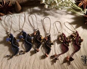 Tribal earrings ethnic earrings, micromacrame, boho jewelry, macramé earrings, boho,ethnic jewelry,hipster earrings ,hippie earrings ,bride