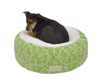 Fancy Dog Bed | Bohemian Pet Pouf | Designer Pet Beds for Cats & Dogs | Minky Pet Bed | Handmade Pet Bed | Washable Cover | S M L