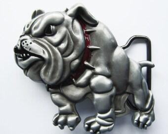 Western Bulldog Belt Buckle