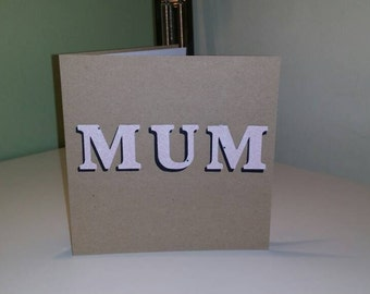 Cutout Mum card is perfect for birthday or Mothers day