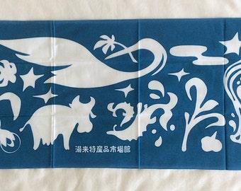 Japanese Tenugui, Hand Towel, Yuki-cho Town, T68