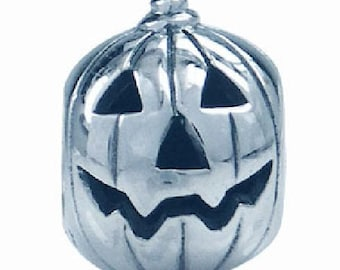 Super Scary Silver Halloween Bead Pandora Style and a Murano Glass bead
