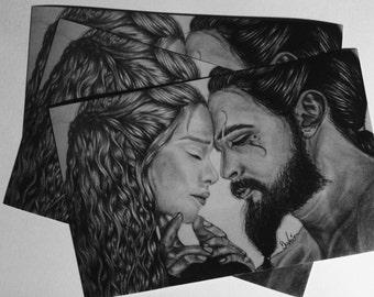 Khal Drogo and Khaleesi (Game of Thrones) PRINT