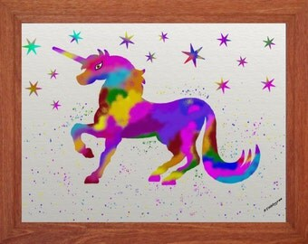 Rainbow Unicorn, Magic, Girls Room,Instant Digital Download,