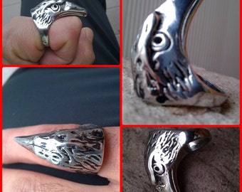 ring Eagle Steel and nickel ring size 20.
