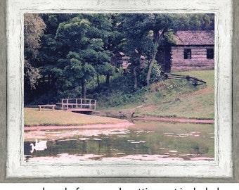 Rustic Log Home and Pond