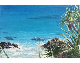 Original Acrylic Painting | Byron Bay | Sea Scape