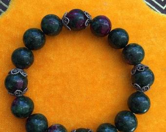 Ruby Zoisite beads/10mm/Gemstone Stone/Bracelet/gift