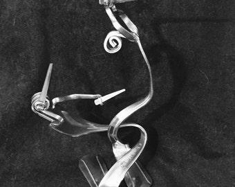 Fork Art Swordfighters silverware sculpture