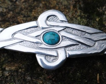 Celtic Knot Pewter Hairslide