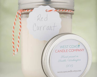 Clear Mason Jar Candle in Multiple Scents