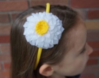Daisy Felt Flower Headband