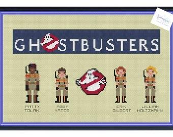 Ghostbusters Female Team 2016 Cross Stitch DIGITAL PDF (pattern only)