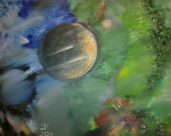 Space Oil Painting. Original painting