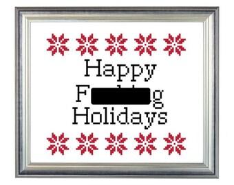 Happy F***ing Holidays | Pattern |