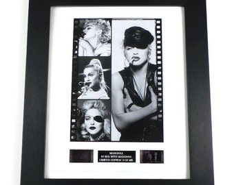 Madonna Original In Bed With Madonna Film Cells Memorabilia in Picture Frame