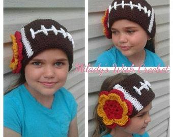 Go Team! Football Earwarmers in Crochet with Team Colors