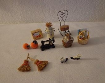 Vintage Miniature Collection - 9 Pieces