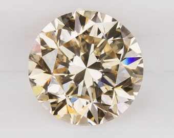 2CT GIA Certified Loose Diamond SI1 Champagne Very Good Cut Round Conflict Free Natural Earth Mined Engagement 8477