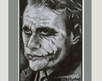 The Joker The Dark Knight ACEO movie art L M Stephens