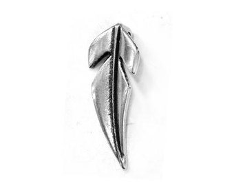 Half leaf charms Pendant charms Unique charms for jewelry making Supplies charms Wholesale charms Nature charms Silver leaf pendant