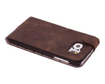 Samsung Galaxy S6 Flip Case, Samsung Galaxy S6 Leather Case, Samsung Galaxy S6 Leather Case Flip Stand Case, G2 Antic Brown