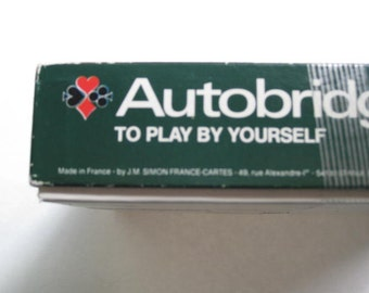 Auto bridge vintage in original box Grimaud brand play yourself at bridge , bridge game