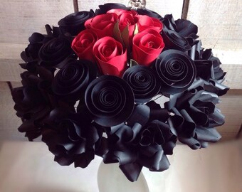 Gothic Love Paper Flower bouquet