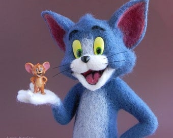 Tom and Jerry felting wool  Hand Made