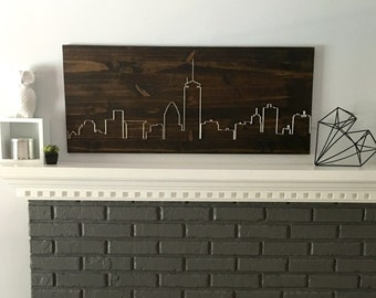 Boston Skyline Living Room Wall Art Dining Bedroom